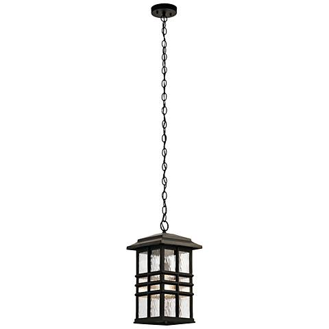 "Kichler Beacon Square 18""H Bronze Outdoor Hanging Light"