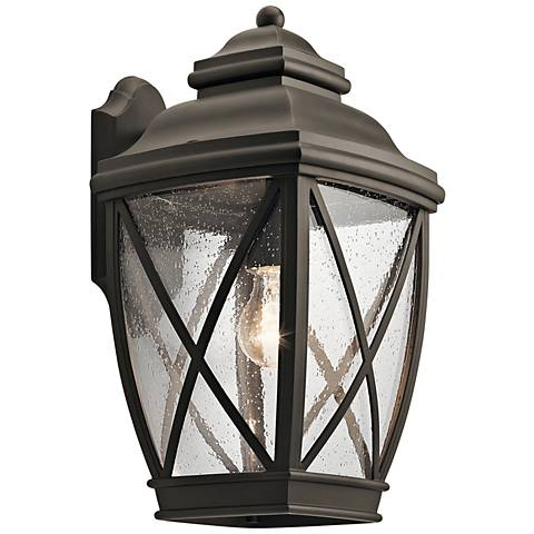 "Kichler Tangier 17"" High Olde Bronze Outdoor Wall Light"