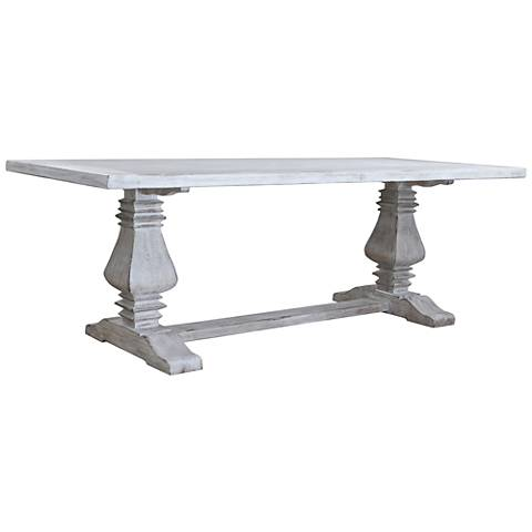 Toscana Small Rectangular White Wood Dining Table