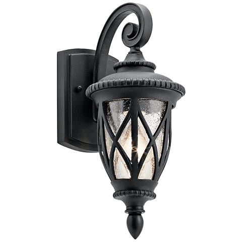 "Kichler Admirals Cove 14 3/4"" High Black Outdoor Wall Light"