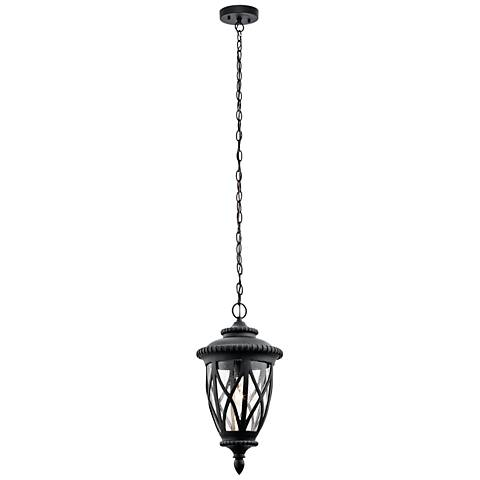 "Kichler Admirals Cove 20 1/2""H Black Outdoor Hanging Light"