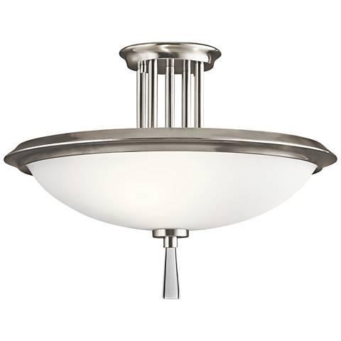 "Kichler Dreyfus 16 1/2"" Wide Classic Pewter Ceiling Light"
