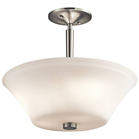 "Kichler Aubrey 15"" Wide Brushed Nickel 3-LED Ceiling Light"