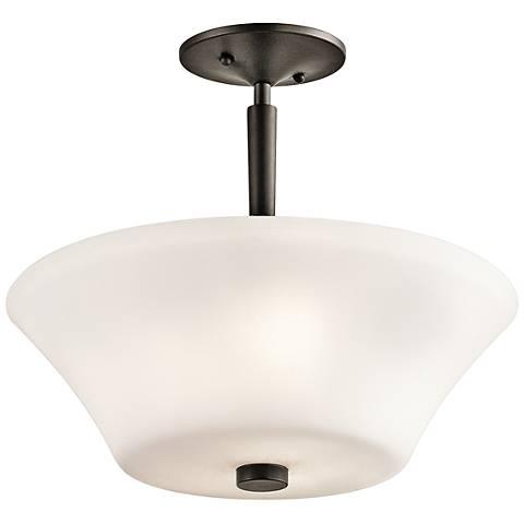 """Kichler Aubrey 15"""" Wide Olde Bronze 3-LED Ceiling Light"""