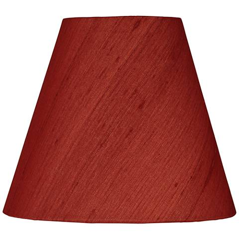 Deep Red Silk Bell Lamp Shade 3x6x5 (Clip-On)