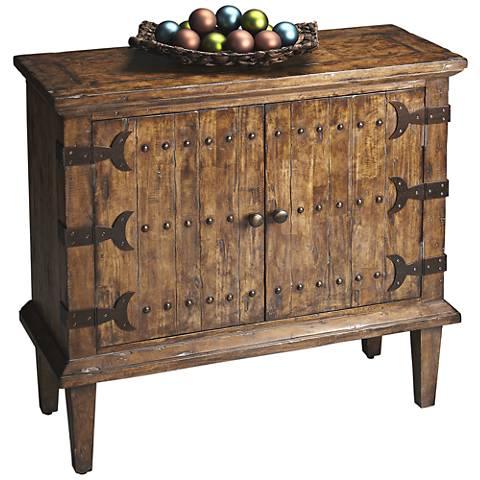 Butler Lune Medium Brown Wood 2-Door Console Cabinet