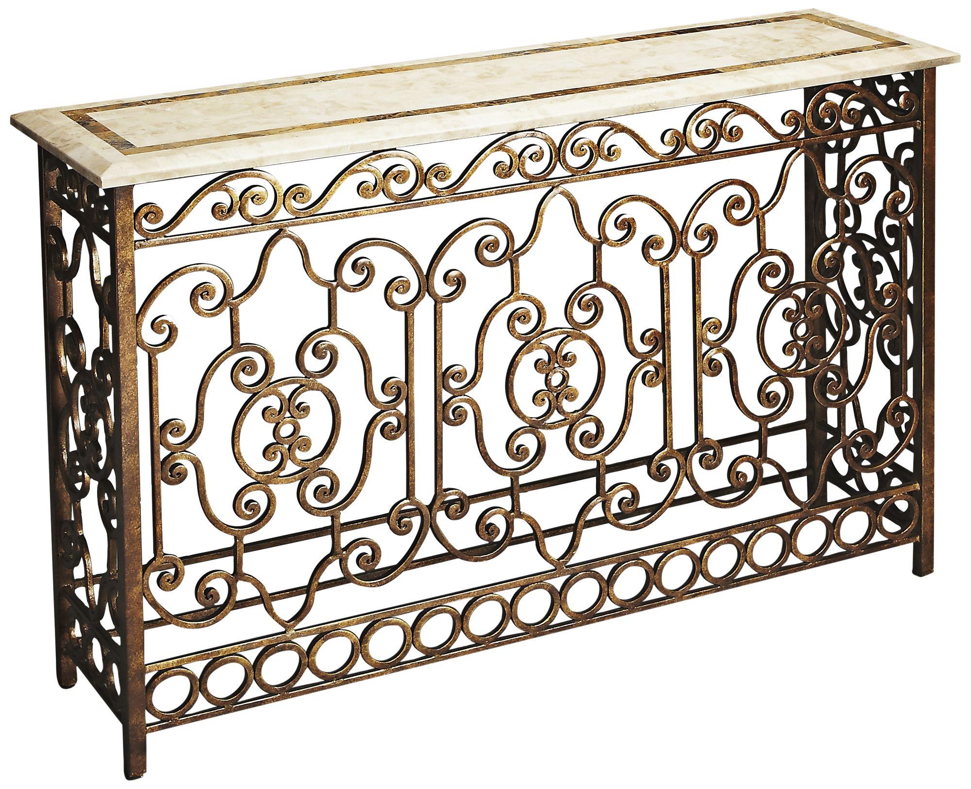 butler contessa metalworks wrought iron console table