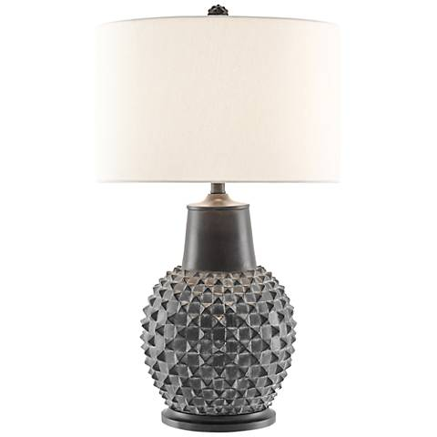 Currey and Company Byzantine Distressed Black Table Lamp