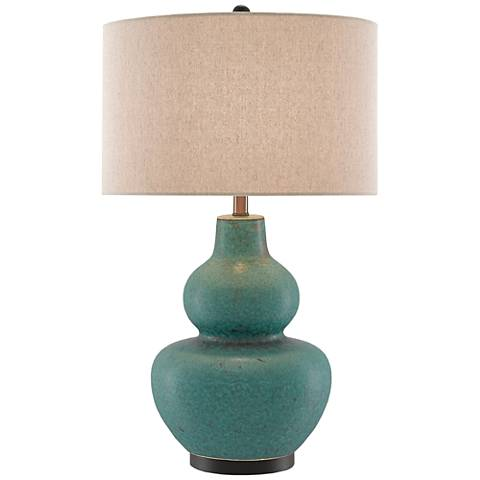 Currey and Company Agean Matte Turquoise Ceramic Table Lamp