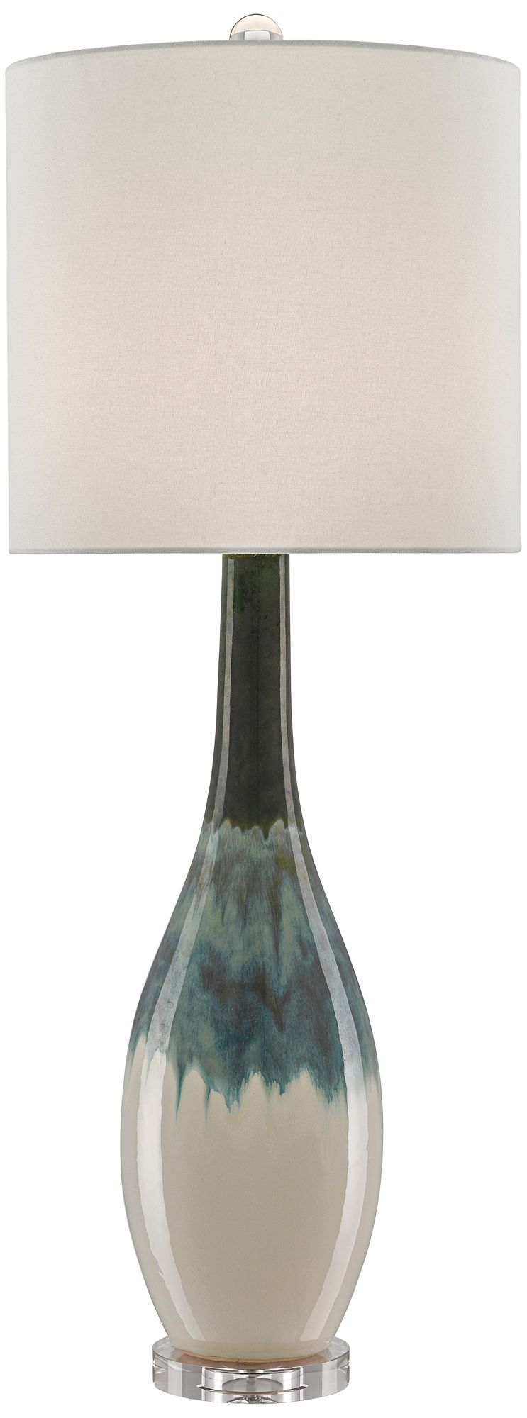Rothko Green And Turquoise Ceramic Table Lamp