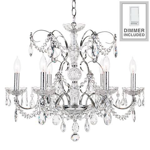 "Schonbek Heritage Crystal 24"" Wide Chandelier with Dimmer"