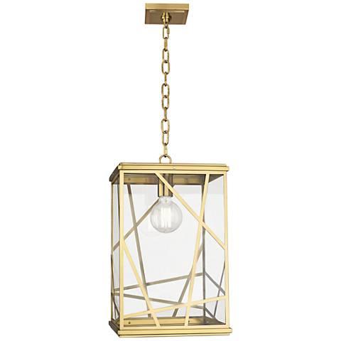 """Michael Berman Bond 19 3/4""""H  Brass Outdoor Hanging Light"""