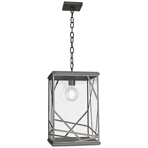 "Michael Berman Bond 19 3/4""H Nickel Outdoor Hanging Light"