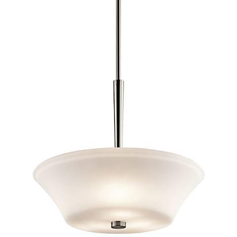 "Kichler Aubrey 17 1/2"" Wide LED Brushed Nickel Pendant Light"