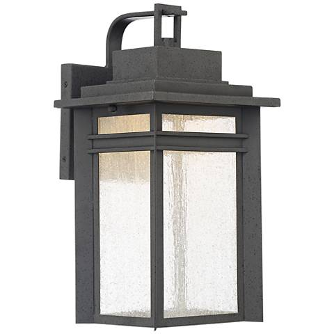 "Quoizel Beacon 16 3/4"" High Black LED Outdoor Wall Light"