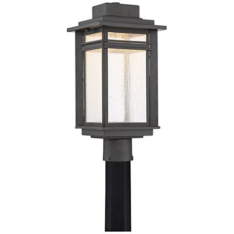"Quoizel Beacon 18 3/4"" High Black LED Outdoor Post Light"