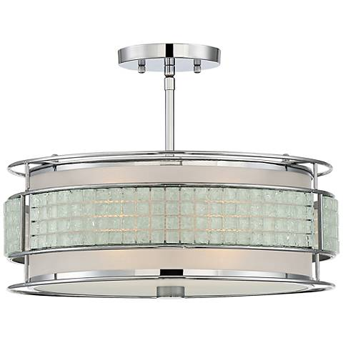 "Quoizel Boundary 16 1/4"" Wide Polished Chrome Ceiling Light"
