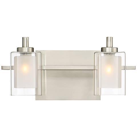"Quoizel Kolt 6"" High Brushed Nickel LED Wall Sconce"