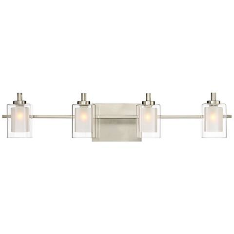 "Quoizel Kolt 29"" Wide Brushed Nickel LED Bath Light"
