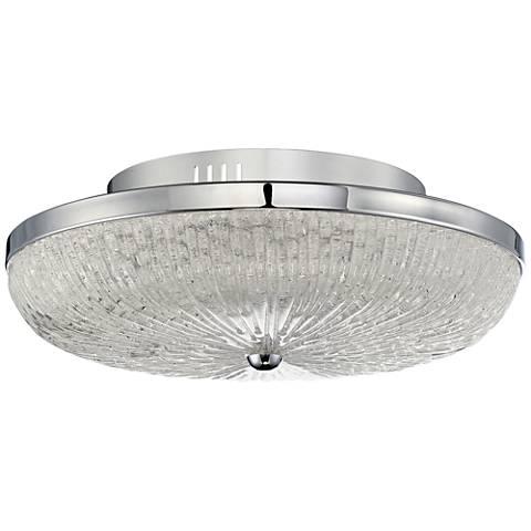 "Quoizel Moon Rays 16"" Wide Polished Chrome LED Ceiling Light"