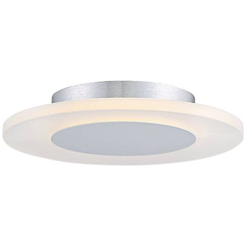"""Platinum Collection Aglow 11 3/4""""W White LED Ceiling Light"""