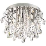 "Platinum Collection Enrapture 18"" Wide Chrome Ceiling Light"