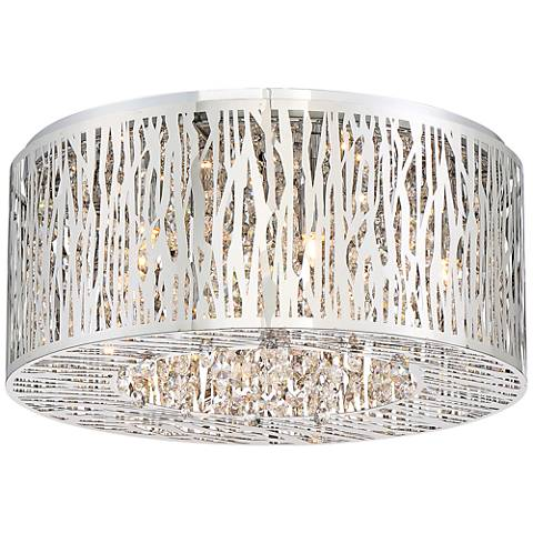 """Platinum Collection Grotto 15 3/4"""" Wide Chrome Ceiling Light"""
