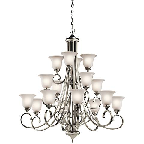 "Kichler Monroe 45""W LED Brushed Nickel 16-Light Chandelier"