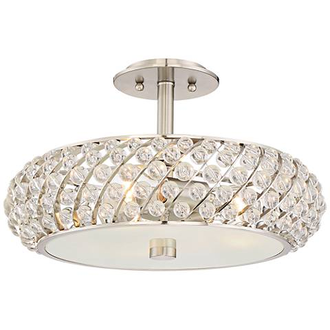 "Platinum Collection Legion 16 1/2"" Wide Nickel Ceiling Light"