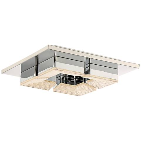"Quoizel Platinum Lunette 10 1/2""W Chrome LED Ceiling Light"