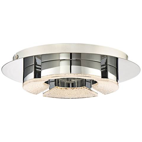 "Quoizel Platinum Lunette 11 3/4""W Chrome LED Ceiling Light"