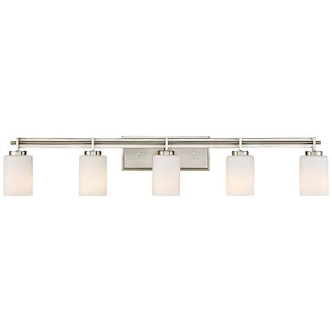 "Quoizel Taylor 40 1/2"" Wide Brushed Nickel Bath Light"