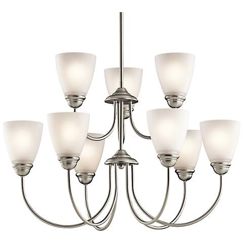 "Kichler Jolie 28"" Wide Brushed Nickel 9-Light Chandelier"