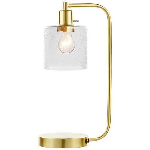 Task Brass Desk Lamp with USB Port