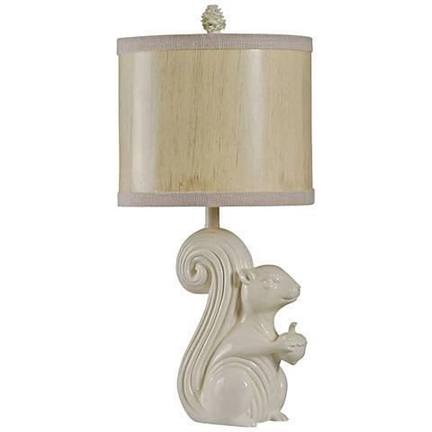 Sedona Cream Squirrel Table Lamp