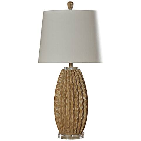 Crowley Textured Brown Table Lamp