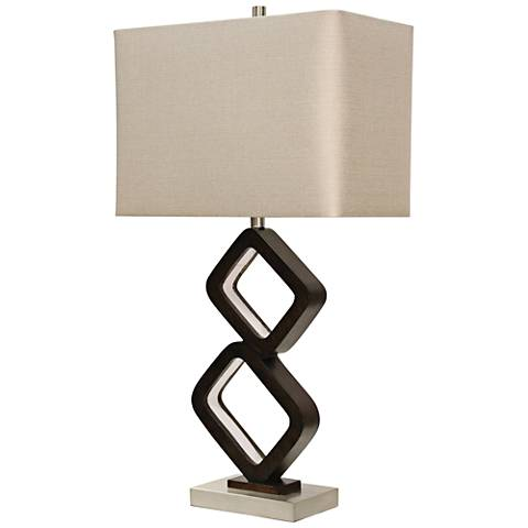 Kai Brown Metal Table Lamp with LED Night Light