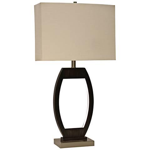 Kellan Brown Metal Table Lamp with LED Night Light