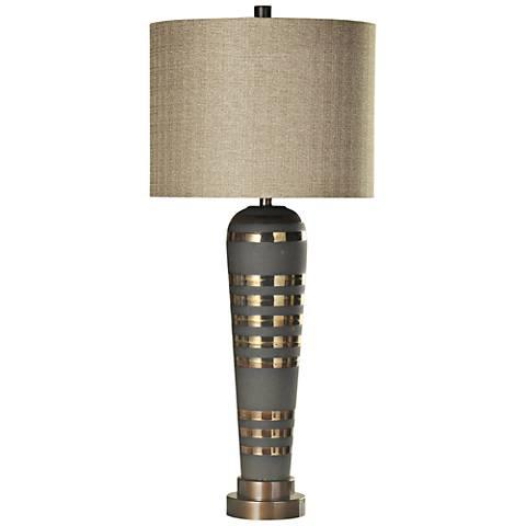 Osiris Gray Metal Table Lamp