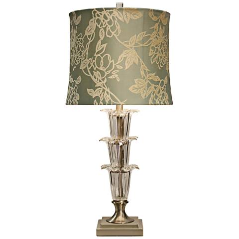 Viola Gold Floral Table Lamp