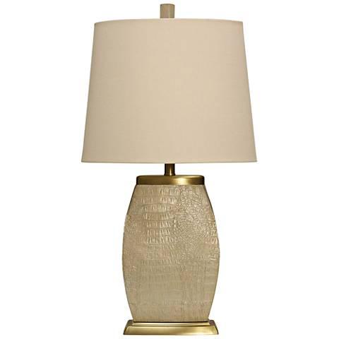 Leona Textured Cream Table Lamp