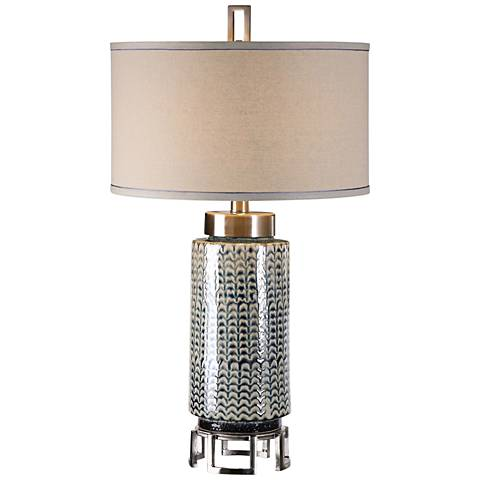Uttermost Vanora Ceramic and Brushed Nickel Table Lamp