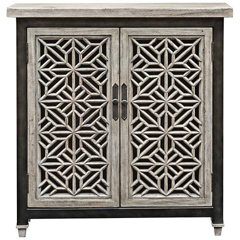 Uttermost Branwen Light Gray Wash Wood 2-Door Accent Cabinet