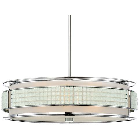 "Quoizel Boundary 22 1/2"" Wide Polished Chrome Pendant Light"