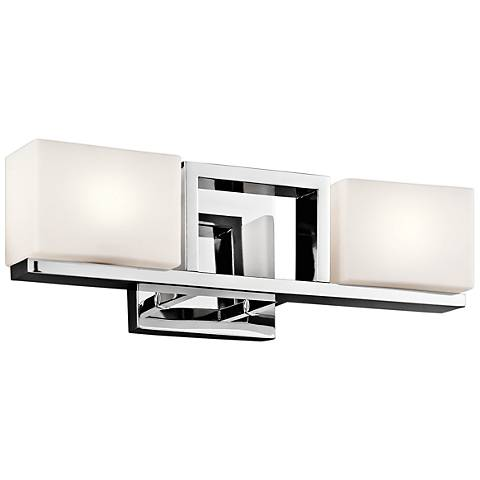 "Kichler Keo 5 1/2"" High Chrome and Glass 2-Light Wall Sconce"