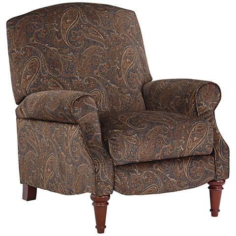 Dashland Brown Paisley 3-Way Recliner Chair