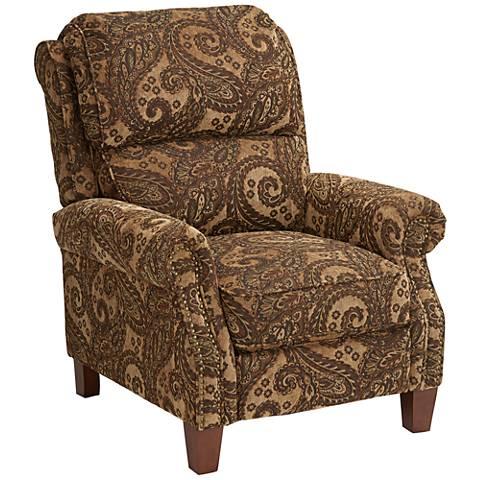 Carlson Pheasant Brown Paisley 3-Way Recliner Chair