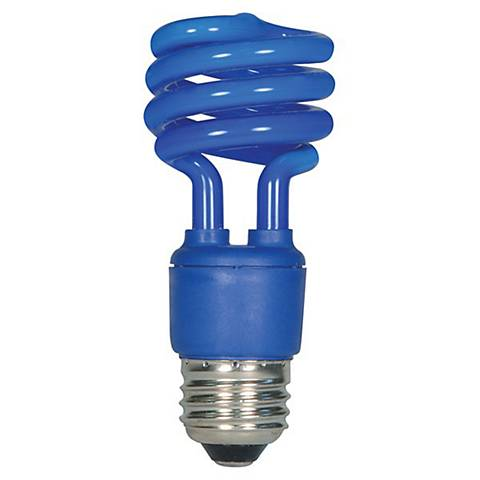 Satco Blue 13 Watt Spiral CFL Light Bulb