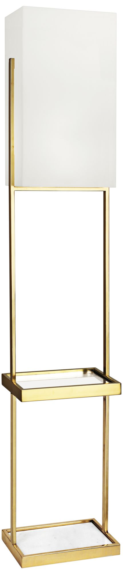 robert abbey nikole modern brass floor lamp
