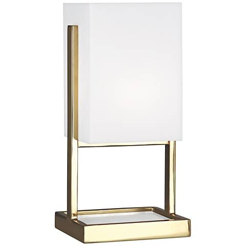 "Robert Abbey 13""H Nikole Modern Brass Rectangle Accent Lamp"